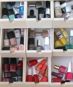 Nail Polish, Polished: Organizing Your Finger Paints // Live Simply by Annie