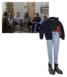 """Untitled #95"" by inteovertgirl on Polyvore featuring Fred Perry, Topshop and Dr. Martens"