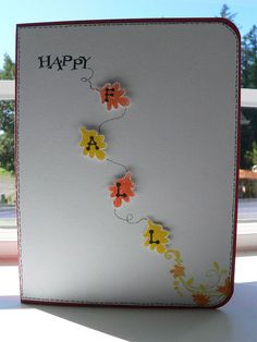 Happy Fall Card by narutopenguingirl, via Flickr