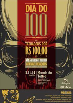 Dia do 100 : O maior evento BENEFICENTE no MUNDO DA TATTOO   mundodatattoo