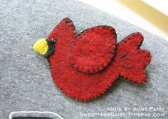 Super cute cardinal by Anna Wight's Aunt Patty