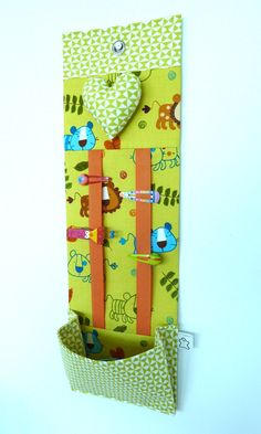 Hairclip and ponytail holder organizer Jungle Friends - Made to order. €29.00, via Etsy.