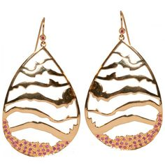 Tiger Drop Earring Gold / Ruby (Large)