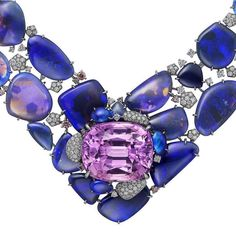 This @cartier necklace was a highlight of the house's new [Sur]Naturel high jewelry collection. It features a 71.8-carat pinkish-purple… Cartier Necklace, High Jewelry, Jewelry Collection, Purple, Highlight, House, Jewels, Lights, Home