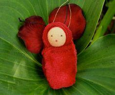 Crimson fairy baby  Easter ornament by fairyshadow on Etsy, $6.00