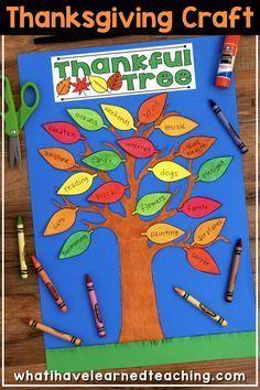 Thankful Tree – Thanksgiving Craftivity – November Craft
