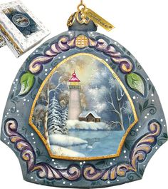 Features:  -Comes in a beautiful decorative gift box.  -Made in the USA.  Product Type: -Shaped ornament.  Theme: -Tree/Snow.  Color: -Multi-color.  Country of Manufacture: -United States.  Primary Ma