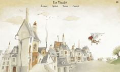 Webdesign / Eve Tharlet | Les projets | Elegraphie Illustration / parallaxe / animation Children's Book Illustration, Book Illustrations, Childrens Books, Eve, Web Design, Animation, Cartoon, Composition, Painting