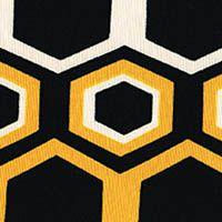 Bee My Honey Lightweight Neoprene  Yellow/Black/White  GorgeousFabrics.com