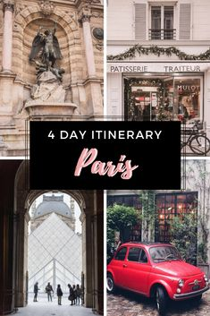 four Day Paris Itinerary Visiting Paris for the primary time? Have four days in Paris? Comply with this four Day Paris Itinerary to see one of the best locations in Paris Paris Travel Tips, Europe Travel Tips, European Travel, Travel Guides, Travel Destinations, Travel Info, Traveling Tips, Travel Goals, Travel Hacks