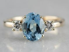Beautiful London, Big And Beautiful, Blue Topaz Diamond, Stone Gold, Three Stone Rings, London Blue Topaz, Eternity Bands, Cocktail Rings, Vintage Rings
