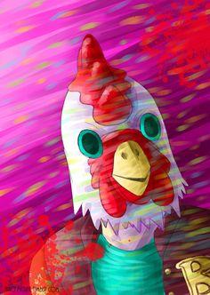 My illustration is sponsored by KFC. 8D