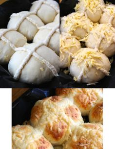 Cheesy hot cross buns Hot Cross Buns, Bbc Good Food Recipes, Savoury Dishes, Easter Recipes, Spices, Bread, Cheese, Homemade, Spring