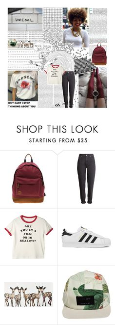 """""""I'VE LOST IT ALL AND I STILL CAN'T SLEEP"""" by skele-gro ❤ liked on Polyvore featuring MiPac, Børn, H&M, adidas, WALL and I Love Ugly"""