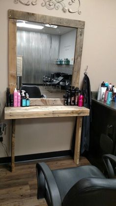 Hair salon makeover!!! Rustic shabby chic!