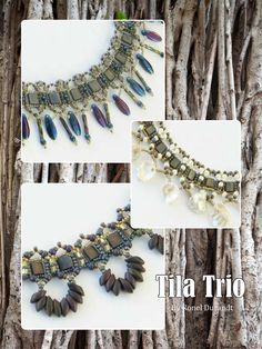 Three fab Tila bead necklace designs to make - get all 3 patterns here: http://www.joomag.com/magazine/digital-beading-magazine-issue-11/0912822001408173490