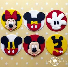 Fondant Disney Mickey and Minnie Mouse by SweetCreationByCarey