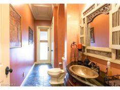 Tuscan powder room \ pool bath.  Indigo Preserve in North Naples, Florida