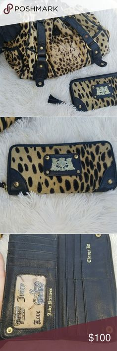 MAKE OFFER Juicy Coutoure Leopard Purse & Wallet Super cute wallet and purse Juicy Couture Bags