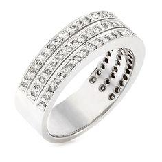 18 CARAT WHITE GOLD HALF ETERNITY RING