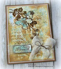 Kath's Blog......diary of the everyday life of a crafter: Tim Holtz/Stampers Anonymous - Dearly Departed Mixed Media Cards, Halloween Tags, Stampers Anonymous, Ranger Ink, Distress Oxide Ink, Old Paper, Watercolor Cards, My Stamp, Cool Cards