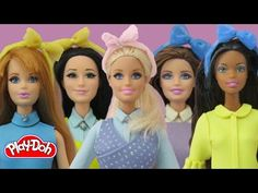 Play-Doh Barbie Dolls Meghan Trainor - All About That Bass Inspired Costume - YouTube