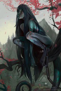 ArtStation - Like at home, Vadim Baydashnikov Dark Fantasy Art, Fantasy Girl, Fantasy Artwork, Fantasy Character Design, Character Design Inspiration, Character Art, Dungeons And Dragons Characters, Fantasy Characters, Arte Assassins Creed