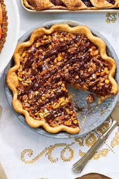 Maple-Nut Pie Use 1/2 as much nuts.  Way too many pecans in the original recipe
