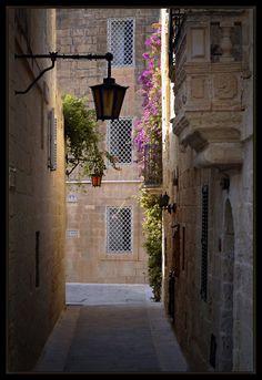 Beautiful alley, Valletta - Malta Island