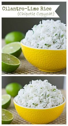 Chipotle Cilantro Lime Rice (Copycat) Culinary Hill is part of Chipotle recipes - Learn the secrets to making Chipotle Cilantro Lime Rice at home It all starts with the right type of rice cooked in an unusual way Chipotle Recipes, Mexican Food Recipes, Vegetarian Recipes, Cooking Recipes, Healthy Recipes, Fondue Recipes, Chipotle White Rice Recipe, Copycat Chipotle Rice, Cooking Rice