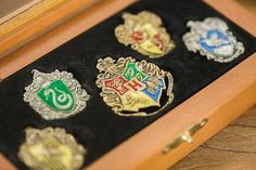 House Pins/Coat of Arms from a Harry Potter Birthday Party via Kara's Party Ideas   KarasPartyIdeas.com (36)