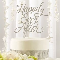 Happily Ever After Wedding Cake Topper (Kate Aspen 18090NA) | Buy at Wedding Favors Unlimited (http://www.weddingfavorsunlimited.com/happily_ever_after_wedding_cake_topper.html).