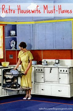 Being a retro housewife is a passion of mine. It can be a lot of work but there are some great items that make it easier and better.