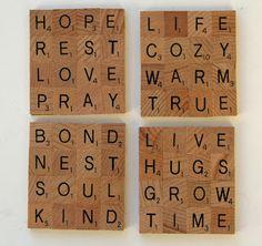Liz's Paper Loft: Scrabble Tile Coasters!
