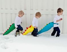 Dragon Tails {sewing tutorial} perfect for boys to do imaginary play.  Great winter project.