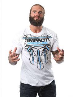 """IMPACT """"Striped""""; men's fashion; gift ideas for men; gift ideas for boys; joker; social media; t-shirt; TNA Wrestling; IMPACT Wrestling; Wrestling Legend; logo; blue & white t-shirt; ShopTNA; clothing"""