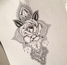 Rose mandala tattoo design                                                                                                                                                      More