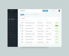 #sidebar #list #calendar #buttons #search #menu