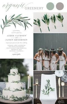 Organic Greenery Wedding Trend and Invitation inspo greenery Wedding Invitations 2017 Wedding Trends, Wedding 2017, Wedding Themes, Wedding Styles, Dream Wedding, Wedding Decorations, Wedding Ideas, June Wedding Colors, Neutral Wedding Colors