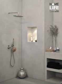 Inham in badkamer muur