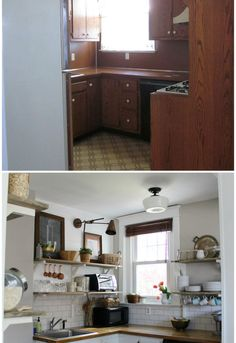 small kitchen diy ideas before after remodel pictures of tiny kitchens apartment kitchen. Black Bedroom Furniture Sets. Home Design Ideas