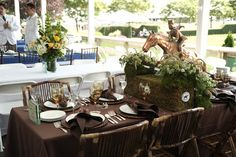 Horse Country Chic, Hampton Classic  table decorations