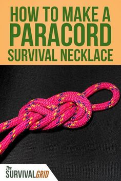 Want to make stuff using paracord? Paracord can be your best friend when it comes to prepping and survival. Here's how to make a paracord survival necklace. Survival Items, Survival Supplies, Emergency Supplies, Survival Food, Outdoor Survival, Survival Knife, Survival Prepping, Emergency Preparedness, Survival Skills