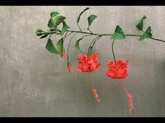 ABC TV | How To Make Hibiscus Schizopetalus Paper Flowers From Crepe Pap...
