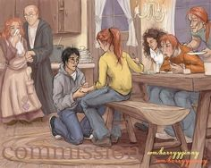 Harry proposing to Ginny