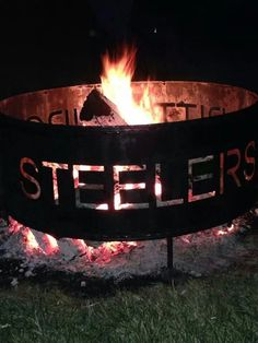 Pittsburgh steelers fire pit ring, i need one of these only it should say Steelers Raiders, Steelers Gear, Here We Go Steelers, Pittsburgh Steelers Football, Pittsburgh Sports, Steelers Stuff, Oakland Raiders, Football Team, Dallas Cowboys