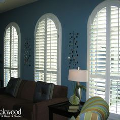 Arched Window Shutters For The Living Room