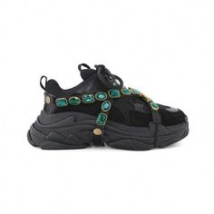 Black Green LIVIE Platform Sneakers With Removable Crystal Jewelled Straps Steve Madden Sneakers, Chloe Shoes, Girls Sneakers, Shoes Sneakers, Latest Street Fashion, Ladies Dress Design, Platform Sneakers, Designer Shoes, Womens Fashion