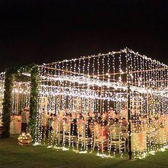 Magical wedding by @andhie_dvalue decor , taking tent wedding up a notch. #baliwedding #gardenwedding #fairylightwedding Photo @polarpoplar