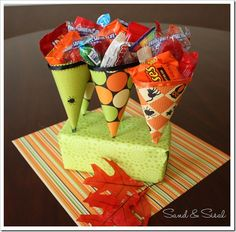 Halloween Treat Cones are a fun way to hand out sweets to all the little ghosts and goblins! They are so simple to make! Start …